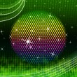 Colorful Ball Background Means Green Grid And Sparkle — Stock Photo #48867513