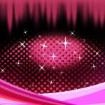 Постер, плакат: Pink Eye Shape Background Means Pupil Eyelashes And Twinklin