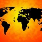 Постер, плакат: World Map Background Means International Oceans Or Global Ma
