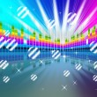 Colorful Soundwaves Backround Means Music Sparkles And Party — Stock Photo #48869543
