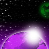 Purple Earth Background Shows Brightness Planet And Heaven — Stock Photo