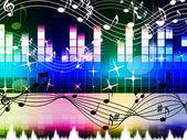 Rainbow Music Background Means Pop Rock Or Ra — Stock Photo