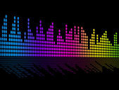 Digital Music Beats Background Shows Music Soundtrack Or Sound P — Stock Photo