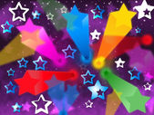 Colorful Stars Background Means Heavens Rays And Shinin — Stock Photo