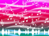 Music Background Means Blues Classical And Melod — Stock Photo
