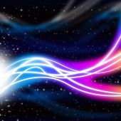 Waves Space Background Means Energy And Ligh — Stock Photo
