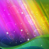 Rainbow Bubbles Background Shows Circles And Ripple — 图库照片