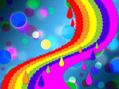 Rainbow Spots Background Means Painted And Dotted — Stock Photo