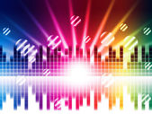 Bright Colors Background Shows Sound Light Waves And Circle — Stockfoto