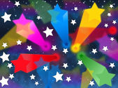 Colorful Stars Background Shows Shooting Space And Color — Stock Photo