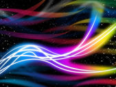 Flourescent Swirls Pattern Shows Glowing Colors And Star — Stock Photo