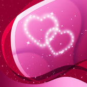 Pink Hearts Background Means Valentine Desire And Partne — Stock Photo