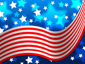 American Flag Background Means National Proud And Identit — Foto de Stock