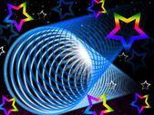 Coil Background Means Brightness And Rainbow Star — Stock Photo