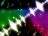Soundwaves Background Means Making Or Playing Melod — Stock Photo