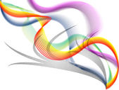 Twisting Background Shows Colorful Curving Bands And Shadow — 图库照片