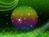 Colorful Ball Background Means Green Grid And Sparkle — Stock Photo