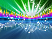 Music Background Means Soundwaves Tune And Singin — Stock Photo