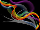 Twisting Background Means Colored Wavy Lines And Shado — Stock Photo