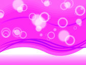Pink Bubbles Background Shows Circles And Ripple — 图库照片