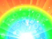 Bright Colourful Background Means Glowing Rainbow Or Twinkling W — ストック写真