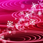 Red Rippling Background Means Ripples Circles And Snowflake — Stock Photo