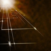 Laser Circuit Background Shows Shining Lines Or Concep — Stock Photo