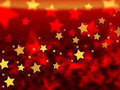 Orange Stars Background Means Brightness In Heaven — Stock Photo