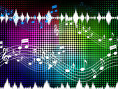 Music Color Background Shows Sounds Harmony And Singin — Stock Photo