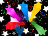 Stars Streamers Background Means Celestial Colors And Part — Stock Photo