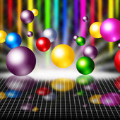 Colorful Background Means Balls Streaks And Gri — Stock Photo