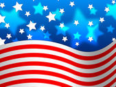 Amercian Flag Background Means Stripes And Star — Stock Photo