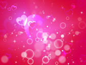 Hearts Background Means Shiny Hearts Wallpaper Or Romanticis — Foto Stock