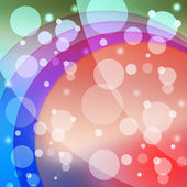 Bubbles And Arcs Background Means Dots And Curve — Stock Photo