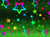 Rainbow Stars Background Shows Heavens And Astronom — Stock Photo