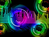 Digital Music Beats Background Means Electronic Music Or Sound F — Stock Photo