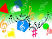Music Background Shows Melody Piece Or Singin — Stock Photo