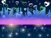 Soundwaves Background Means DJ Singer Or Instrument — Stock Photo