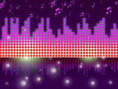 Soundwaves Background Means Song Tune Or Melod — Stock Photo