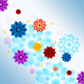 Colorful Flowers Background Shows Flowery And Growt — Stock Photo