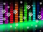 Music Background Shows Singing Harmony and Po — Stock Photo