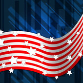American Flag Background Shows National Pride And Identit — 图库照片