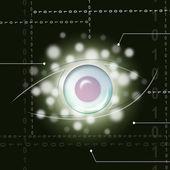 Eye Background Means Glance Examine Or Watc — Stock Photo