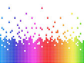 Rainbow Soundwaves Background Shows Music Songs And Artist — Stock Photo