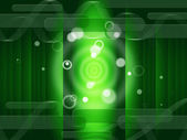 Green Circles Background Means Bright And Oblong — Stock Photo