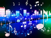 Multicolored Music Background Shows Song RandB Or Blue — Stock Photo