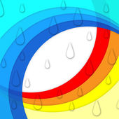 Colorful Curves Background Means Rainbow And Rain Drop — Stock Photo
