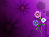 Flowers Background Shows Blooming Growing And Natur — 图库照片