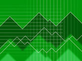 Green Spikes Background Means Grid Zigzags And Dat — Stock fotografie