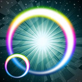 Rainbow Circles Background Means Colorful Round And Brilliant St — Stock Photo